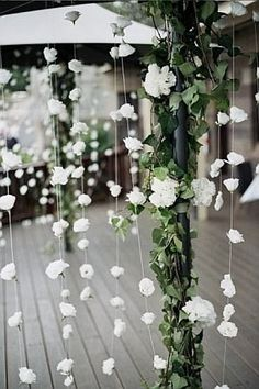 These kinds go with the hanging flowers that I pinned earlier Trendy Wedding, Diy Wedding, Rustic Wedding, Wedding Flowers, Dream Wedding, Wedding Ideas, Wedding White, Luxury Wedding, Wedding Colors