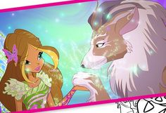 Flora with Amarok Winx Club Season 7