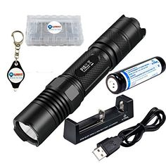 BUNDLE Nitecore P10 Strobe Ready CREE XML2 LED Tactical Precise Series Flashlight w 1x Xtar 18650 2600mAh Liion rechargeable battery 1x Xtar MC1 Liion Battery Charger 1x Battery case and 1x Lightjunction Keychain Light * Read more  at the image link.