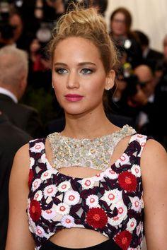 The best Met Gala beauty: Jennifer Lawrence' s perfectly disheveled bun.