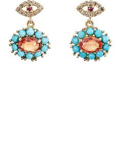 We Adore: The Dream Flower Double-Drop Earrings from Ileana Makri at Barneys New York