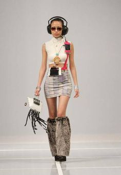 This multimedia look designed by Valentina Oppezzo was just one part of a full evening of action Wednesday at #StyleWeekNE.