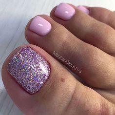 Pretty Toe Nails, Cute Toe Nails, Fancy Nails, Toe Nail Designs, Pedicure Designs, Colorful Nail Designs, Pedicure Ideas, Nail Ideas, Gel Toe Nails