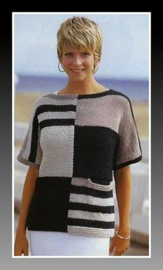 """Letter """"📌 We found new pins for your access … – Надо попробов… – Stricken Cardigan Pattern, Sweater Knitting Patterns, Knitting Stitches, Knitting Designs, Summer Knitting, Baby Knitting, Crochet Blouse, Knit Crochet, Knit Fashion"""