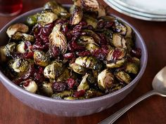 Brussels Sprouts with Balsamic and Cranberries recipe from Ree Drummond via Food Network