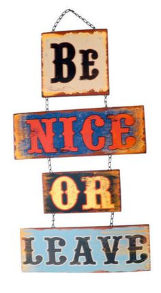 Be Nice Wall Decor