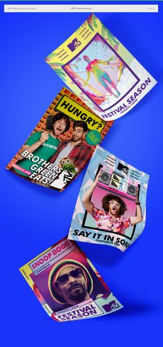 Prints for MTV International new shows in 2015.