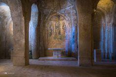 Madonna delle Virtù e San Nicola dei Greci (Chiese Matera): affresco 'Crocifissione' (XVIII sec.)