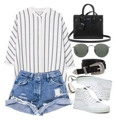 """""""Sin título #2067"""" by alx97 ❤ liked on Polyvore featuring MANGO, ASOS, Yves Saint Laurent, Madewell, Ray-Ban and Pamela Love"""
