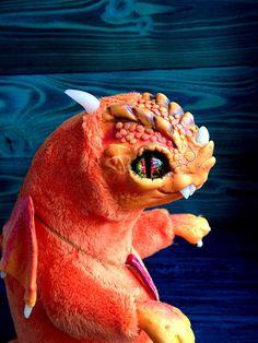 FANTASY PLUSH CREATURE Little Flamy Dragon Ooak Fantasy