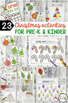 23 festive Christmas activities that will make even the Grinch smile! The festive math and literacy centers include alphabet games, counting activities, pattern and shape practice... so much learning in one download. The set is perfect for pre-k and kindergarten kids! **Affiliate Link