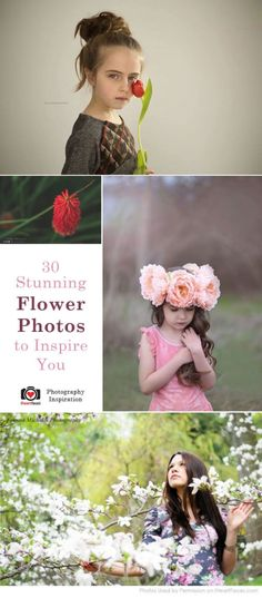 30 Stunning Flower Photo Sessions to Inspire You via iHeartFaces.com