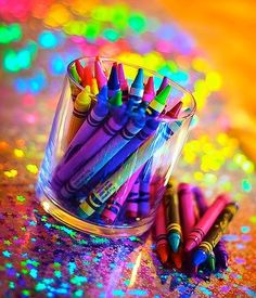 rainbow of crayons