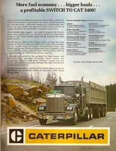 Compressed natural gas in the future would be cool. Stick plugs in it. Big Rig Trucks, Dump Trucks, Cool Trucks, Peterbilt Trucks, Peterbilt 379, Cat Engines, Caterpillar Equipment, Logging Equipment, Truck Engine