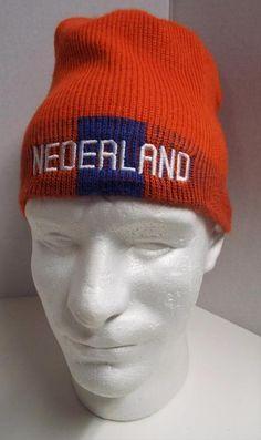 Team NIKE Nederland HOLLAND World Cup Orange Knit Cap Hat KNVB Netherland Soccer #Nike #Ski