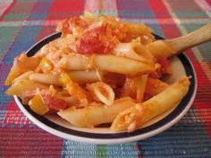 Cheesy Tomato Penne Pasta
