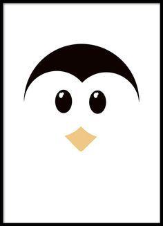 Kinderposter met schattige pinguïn in grafische vormen die erg mooi is in de kinderkamer. Match met onze panda poster die u kunt vinden bij de categorie kinderen en jongeren. www.desenio.nl