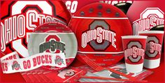 Ohio State Buckeyes Party Supplies-Party City  LOVE THIS!!! I found my son`s party theme, Ohio State, March Madness, 1 birthday!