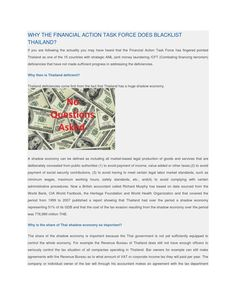 Why the financial action task force does blacklist thailand Offshore Bank, Swiss Bank, Tax Haven, Tax Payment, Money Laundering, How To Be Outgoing, Online Business, Investing, Thailand