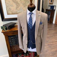 @whitfieldandward posted to Instagram: BROWN TWEED SUIT -an ocean blue waistcoat really makes our sandstone bespoke jacket pop 💣 ___________________________________________  #weddingsuit #menssuits #menstyleguide #groomstyle #gqstyle #dapperlydone #tailoredsuit #groominspiration #menslaw #weddinginspo #peakyblindersstyle #simplydapper #gentlemenstyle #suitstyle #suitsupply #groomsuit #groomstyle #meninsuits #peakyblinders #bespokesuit #mensuitstyle #gqinsider #weddingblog #suitandtie #gqmen Brown Tweed Suit, Tweed Suits, Mens Suits, Tweed Wedding Suits, Gq Men, Bespoke Suit, Gq Style, Mens Style Guide, Groom Style