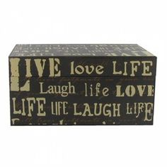 Live Love Laugh Wood Box - Join the Pricefalls family - Pricefalls.com