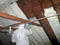 http://www.prefabhomeparts.com/homeatticinsulationtips.php has some info on how to properly insulate the attic before the cold weather months arrive.
