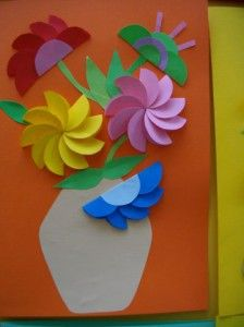 022668990 Hand Crafts For Kids, Mothers Day Crafts, Diy For Kids, Arts And Crafts, Diy Crafts, Sewing Crafts, Paper Flowers For Kids, Cuadros Diy, Easter Flower Arrangements