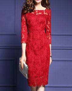 best sneakers 1db42 c707b CW71645 Sweet lace package hip spring slim short sleeve dress Short Sleeve  Dresses, Cheap Dresses