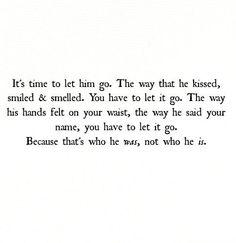 Let him go.