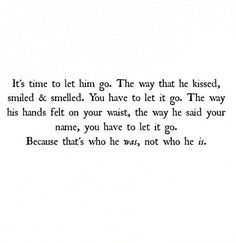 Let him go.
