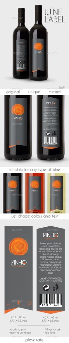 Vinho Wine Label Template AI. Download here: http://graphicriver.net/item/vinho-wine-label/10822562?ref=ksioks