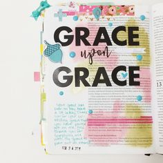 Grace upon Grace 💛 #illustratedfaith #illustratedfaithcommunity #if_gratitudedocumented #biblejournaling #biblejournalingcommunity #gelatos #grace #graceupongrace #mygraceissufficient