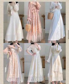 Korean Girl Fashion, Ulzzang Fashion, Muslim Fashion, Modest Fashion, Skirt Fashion, Fashion Dresses, Pretty Outfits, Pretty Dresses, Korean Outfit Street Styles