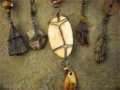 maggie zee : back sides of pendants.