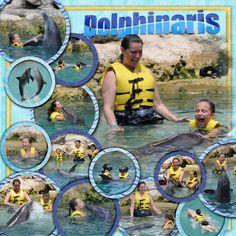 Disney Cruise Scrapbook Layout - Dolphin Swim