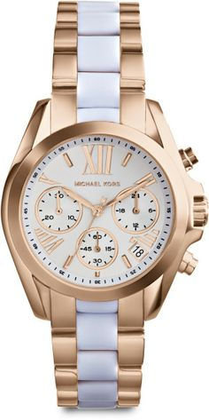 613daee7c33d Michael Kors Rose Goldtonefinished Stainless Steel Chronograph Link Bracelet  Watch in Gold (ROSE GOLD-. Lyst