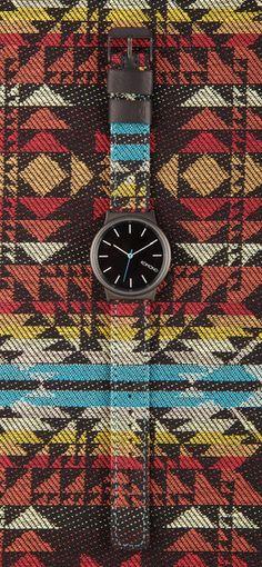 Tribal print watch