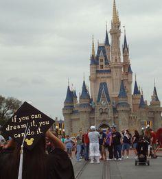 Walt Disney quote graduation cap