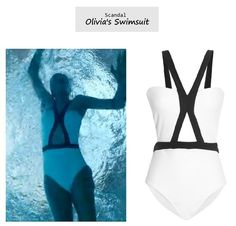 Scandal Olivia Pope's (Kerry Washington) JETS by Jessica Allen White Label swimsuit Olivia Pope Wardrobe, Olivia Pope Style, Scandal Fashion, Fashion Tv, Fashion Outfits, Allen White, Workout Gear, Workout Outfits, Kerry Washington