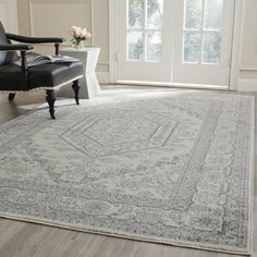 Shop for Safavieh Adirondack Cheyenne Vintage Boho Oriental Rug. Get free delivery On EVERYTHING* Overstock - Your Online Home Decor Store! Get in rewards with Club O! Lodge Style, Traditional Area Rugs, Indoor Outdoor Area Rugs, Power Loom, Online Home Decor Stores, Cool Rugs, Ivory, Oriental Rugs, Silver