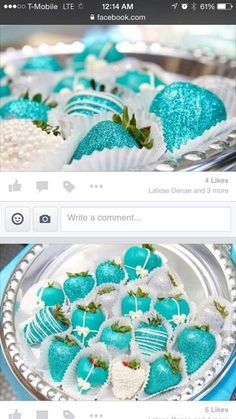 tiffany blue and white chocolate covered strawberries