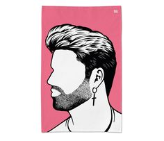 'George Michael' Wham Tea Towel by Bold & Noble £10