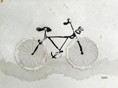 Vélo, bicyclette, bike, bicycle, color, draw, dessin, fun, art, blanc, white