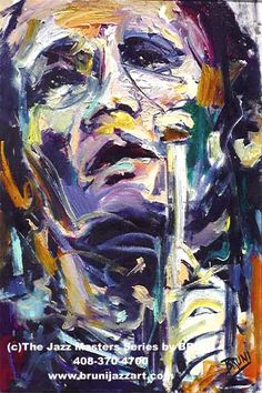 """Chet Baker  Title:  """"Anguished""""  Media:  Oil on Canvas  Catalog #: 447  Size: 24""""x36""""  Status: SOLD  Reproductions Available:  408-298-4700"""