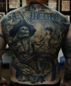Carlos Torres is the mastermind behind this swashbuckling back piece. #InkedMagazine