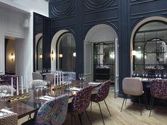 Art deco thrills at hotel bachaumont, paris arch interior - Restaurant Design, Luxury Restaurant, Restaurant Lighting, Restaurant Restaurant, Art Deco Decor, Decoration, Room Decor, Arte Art Deco, Hotel Interiors