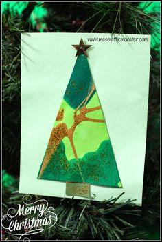Messy Little Monster: Tree Christmas Card