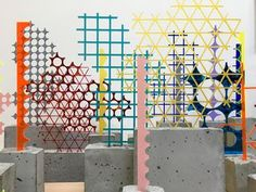 David Batchelor, 'Reef', 2016, concrete, cast acrylic, dimensions variable