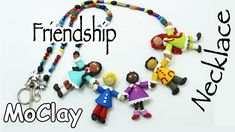 """How to make a Friendship Necklace!  Polymer clay tutorial. Native Americans make necklaces ofr this kind with a grandparent in the center, and then the children. they call it """"The STORYTELER"""""""