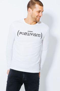 """T-shirt col rond imprime """"Positivism"""""""